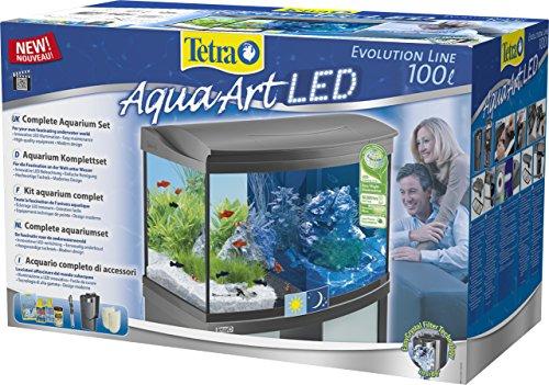 tetra aquaart evolution line led aquarium komplett set 100 liter im test. Black Bedroom Furniture Sets. Home Design Ideas